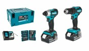 Makita DLX2221JX2 DHP483 + DTD155 + 2x 3,0Ah battery + DC18RC