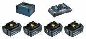 Makita Power Source-Kit 4x 5Ah battery BL1850B + DC18RD