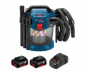 Bosch GAS 18V-10 L Professional 2x 5Ah battery + GAL1880