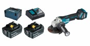Makita DGA517RTJ 2x 5Ah battery + charger