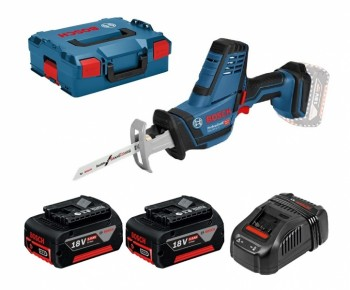 1c4461f5fe0 Bosch GSA 18V-LI C Professional 2x 5Ah battery + GAL1880 CV + L-BOXX